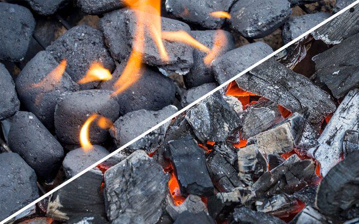 charcoal vs wood