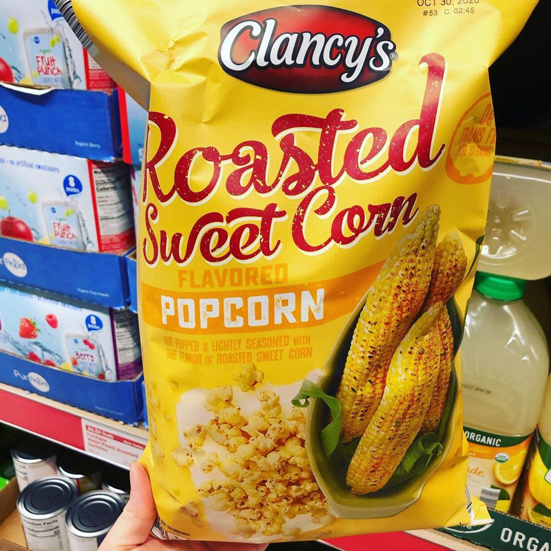 Clancys roasted sweet corn popcorn