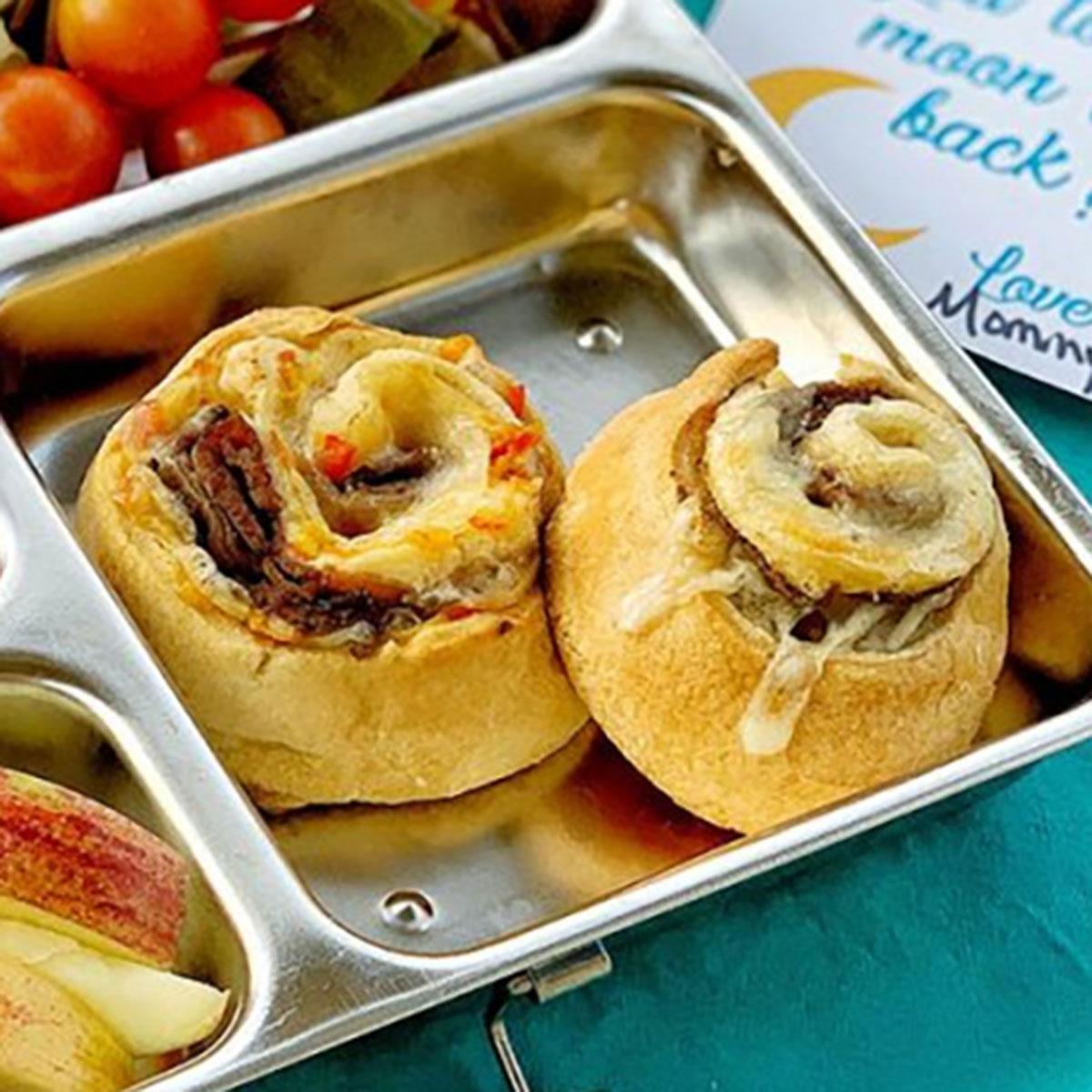 Cheesy Roast Beef Pinwheels