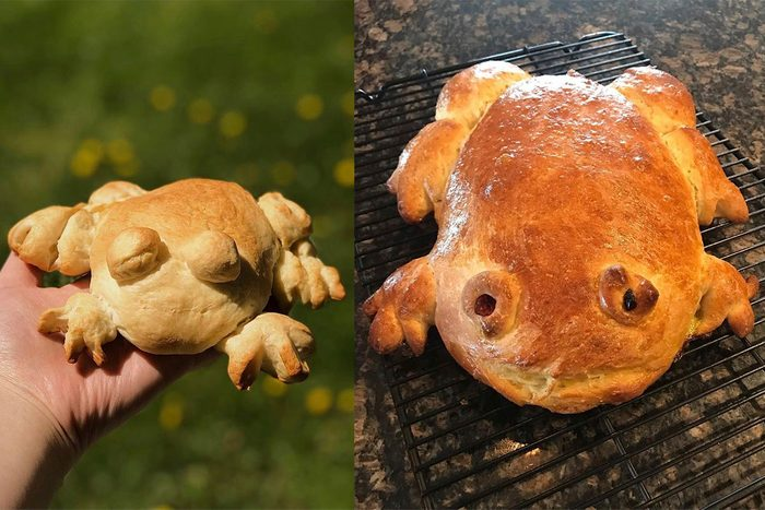 Frog Bread from Tik Tok baking trend.