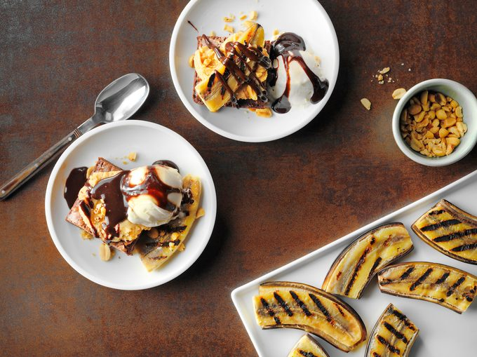 RMS 85233; Grilled Banana Brownie Sundae