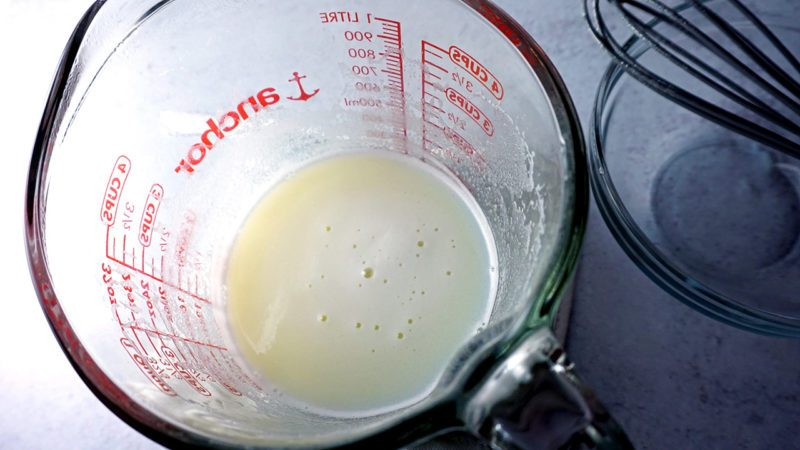 homemade condensed milk after heating in microwave
