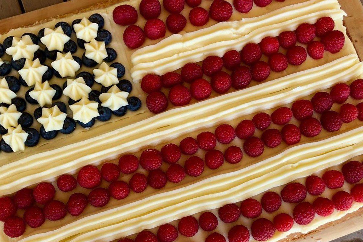 Ina Garten flag cake