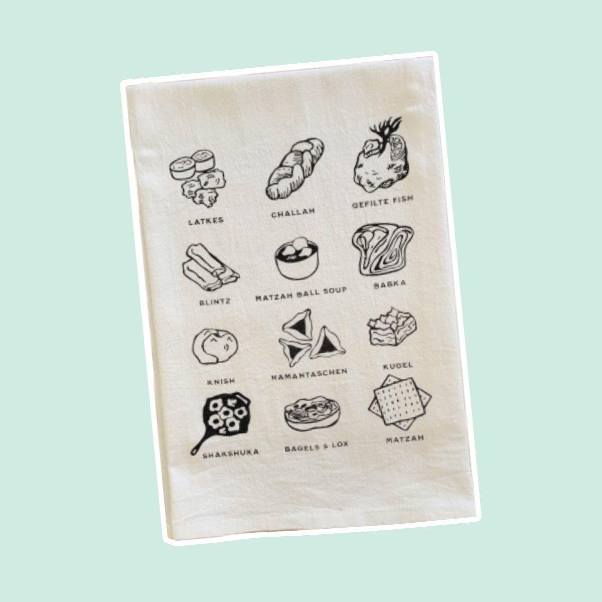 JEWISH FOODS KITCHEN TOWEL