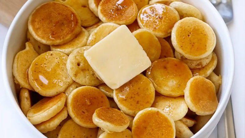 bowl of pancake cereal