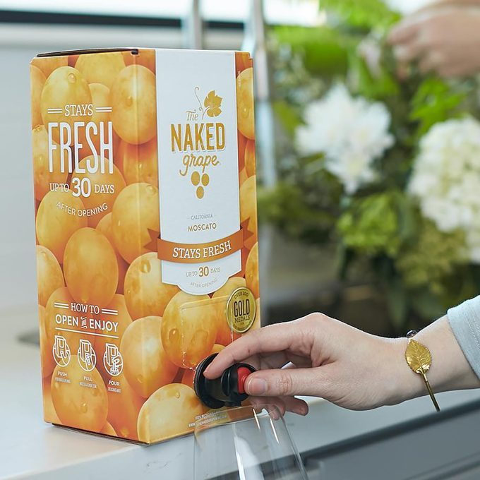 The Naked Grape Moscato wine box