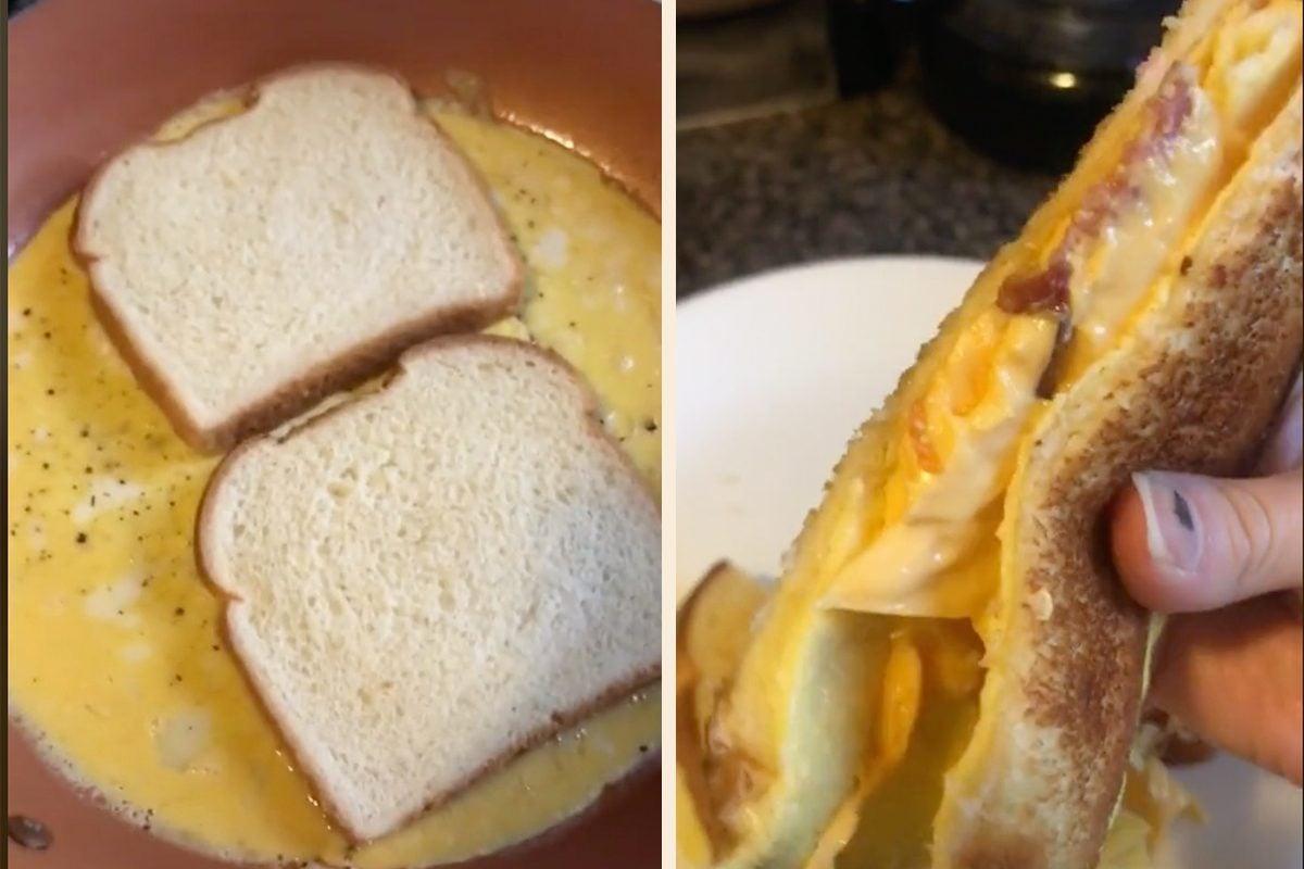 tik tok breakfast sandwich
