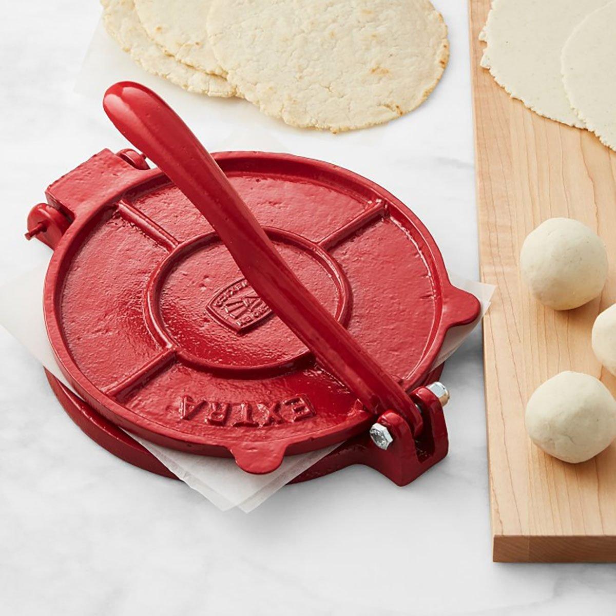 Cast-Iron Tortilla Press, Red