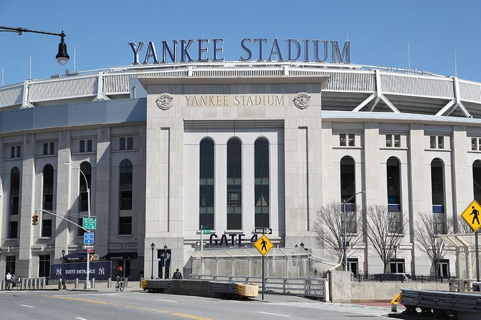 """BRONX, NEW YORK - MARCH 26: Yankee Stadium is empty on the scheduled date for Opening Day March 26, 2020 in the Bronx, New York. Major League Baseball has postponed the start of its season due to the coronavirus (COVID-19) outbreak and MLB commissioner Rob Manfred recently said the league is """"probably not gonna be able to"""" play a full 162-game regular season. (Photo by Al Bello/Getty Images)"""
