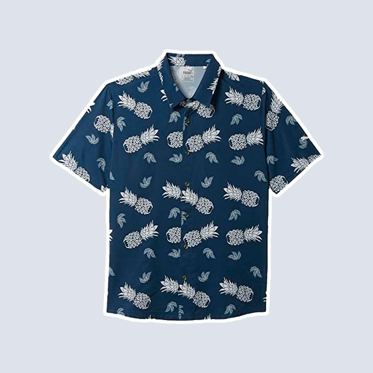 Pineapple button down shirt