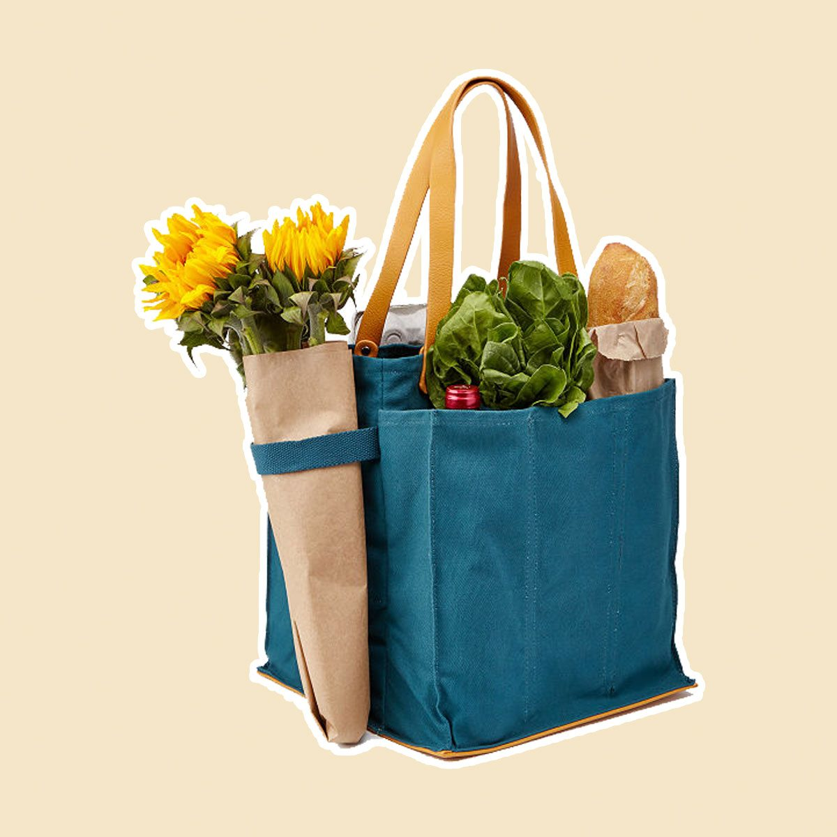 Canvas and Vegan Leather Tote