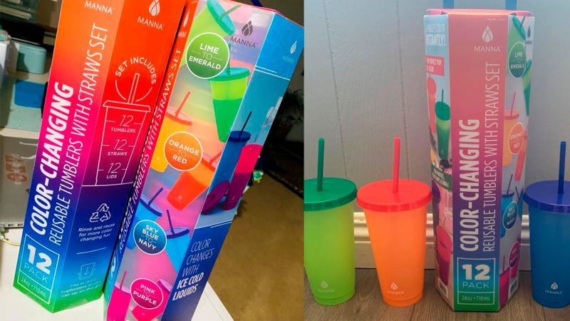 Costco Manna color changing tumbler cups