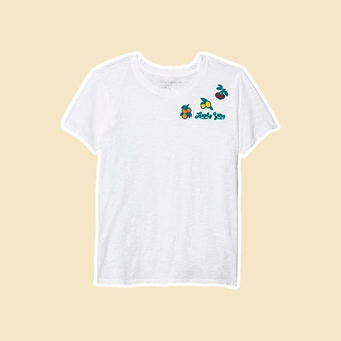 Embroidered Fruit Tee