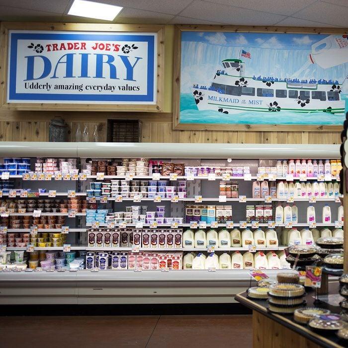 Trader Joe's dairy aisle