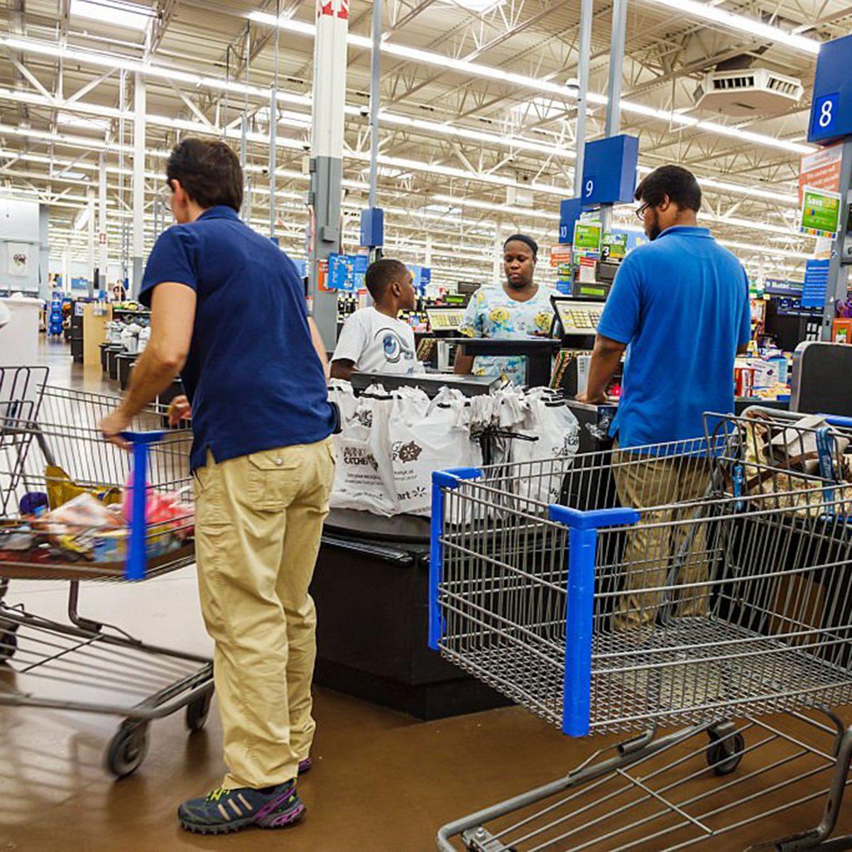 Busy Walmart registers