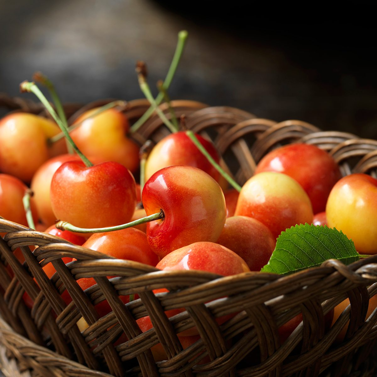 Fresh organic fruit, rainier cherries
