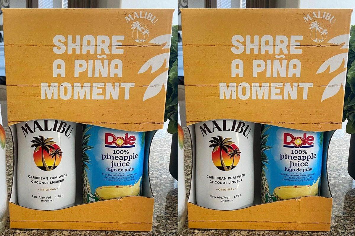 Malibu and Dole pina colada pack