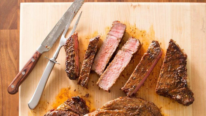 peppered ribeye grilled steaks