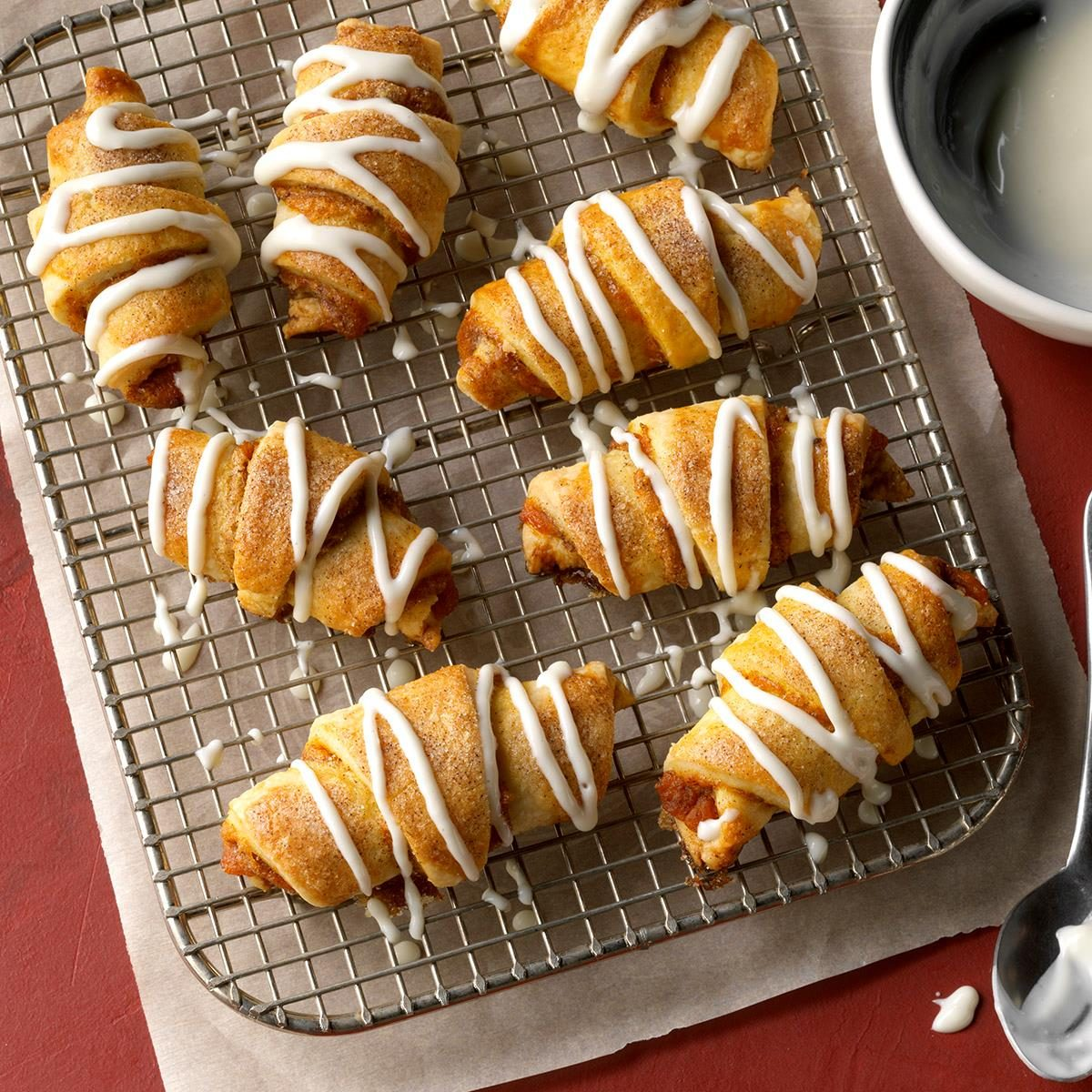 Pumpkin Rugelach with Cream Cheese Icing