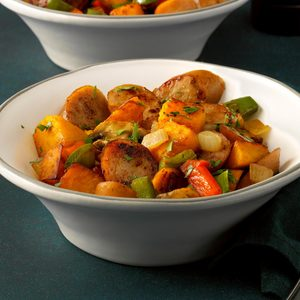 Pumpkin and Chicken Sausage Hash