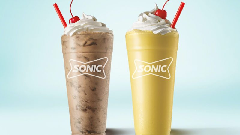 brownie batter and sonic cake batter shake