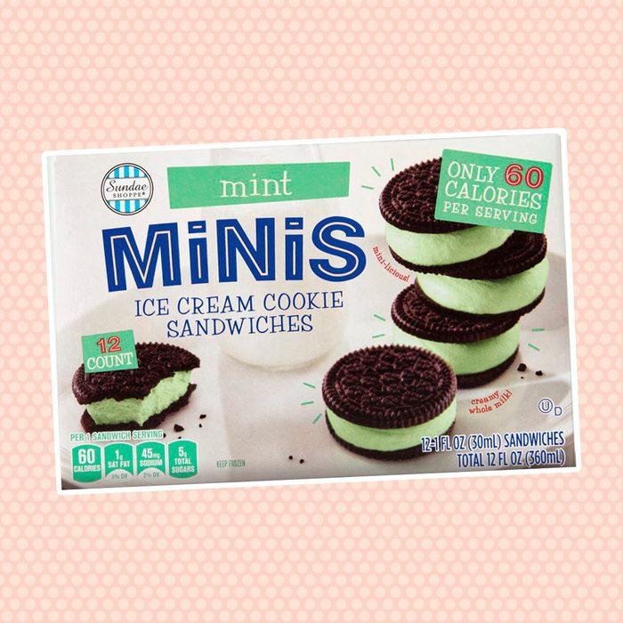 Sundae Shoppe Mint Mini Ice Cream Cookie Sandwiches