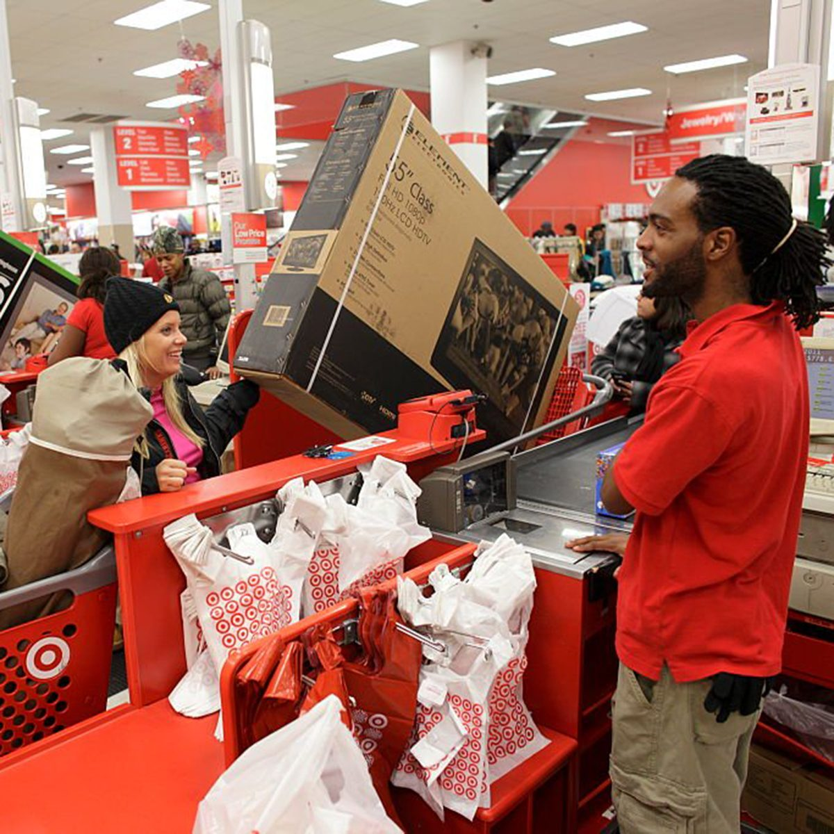 Black Friday shoppers checking out at Target