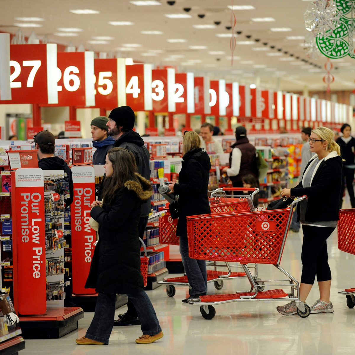 Busy Target checkouts