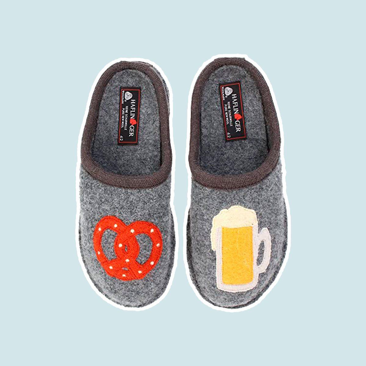 Beer & Pretzel Slippers