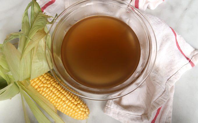 horizontal image of finished corn stock