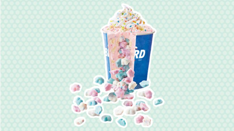 Dairy Queens new Pinata Party Blizzard side by side