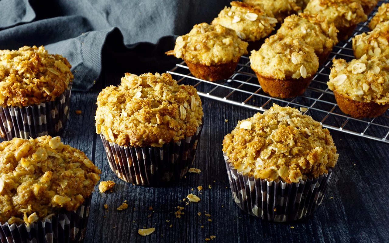 freshly-baked healthy kid-friendly muffins made with your kids