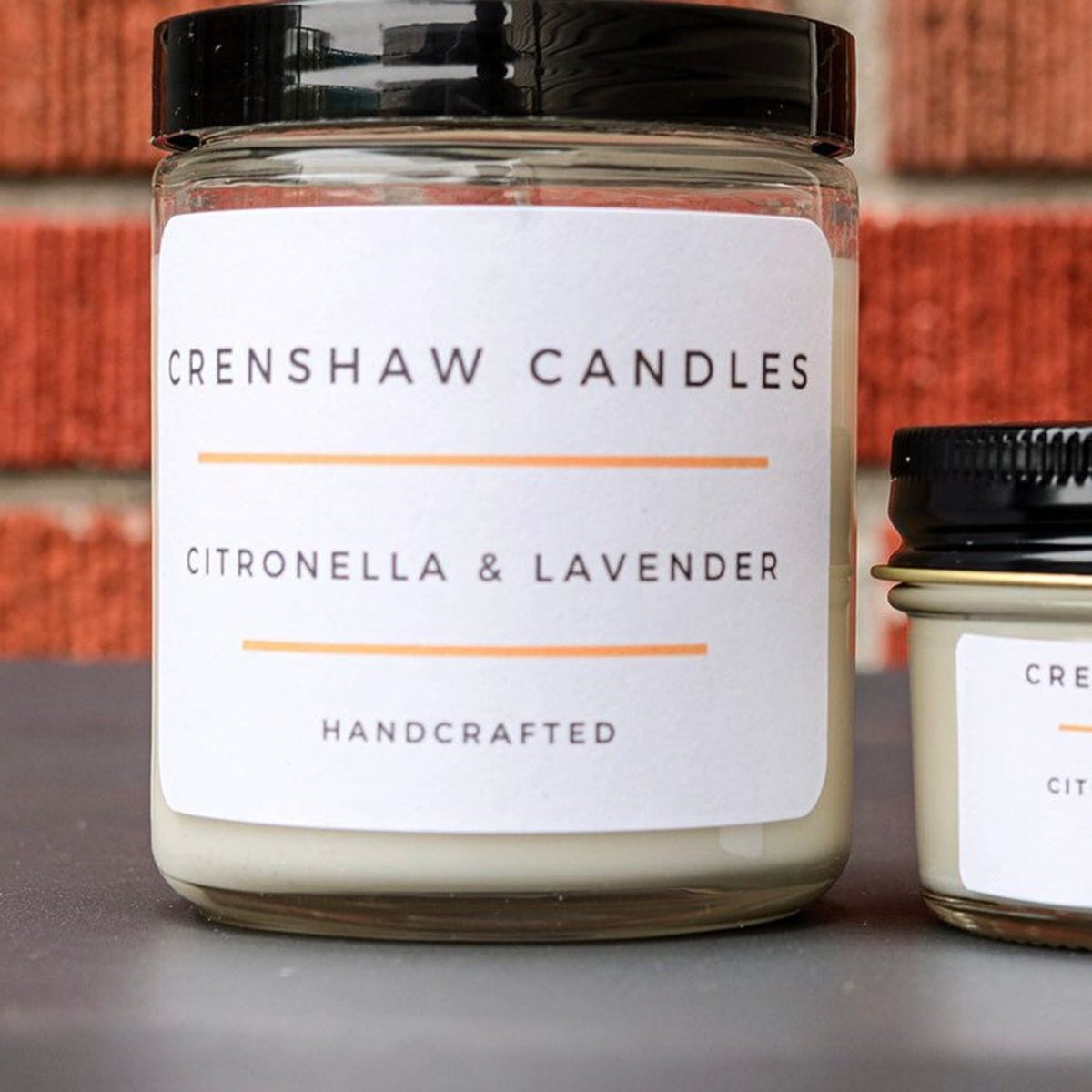 Citronella & Lavender Keep those pesky mosquitoes away.