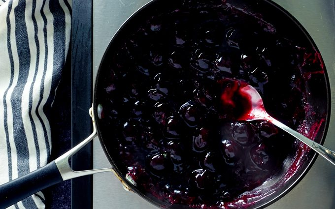 making cherry filling for miniature pies