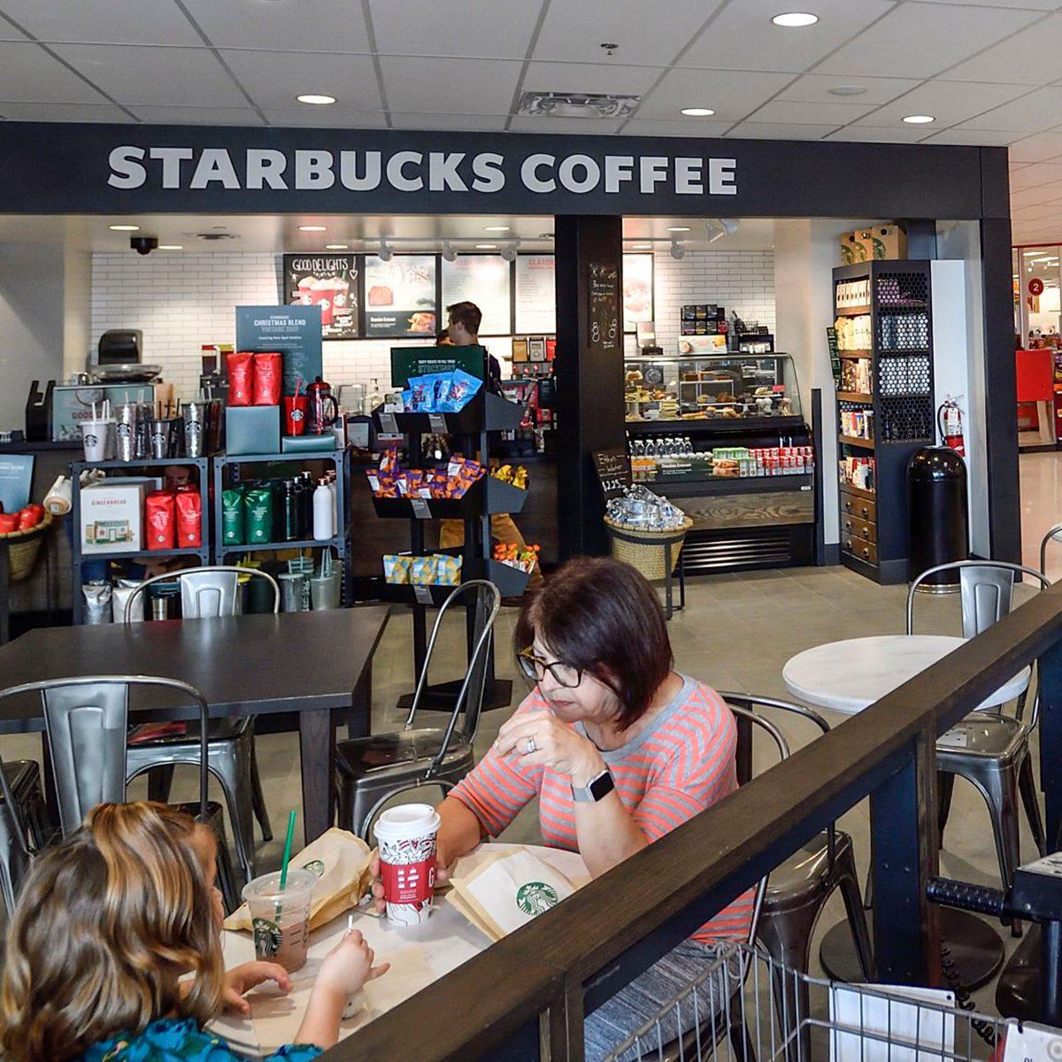 Starbucks cafe inside Target