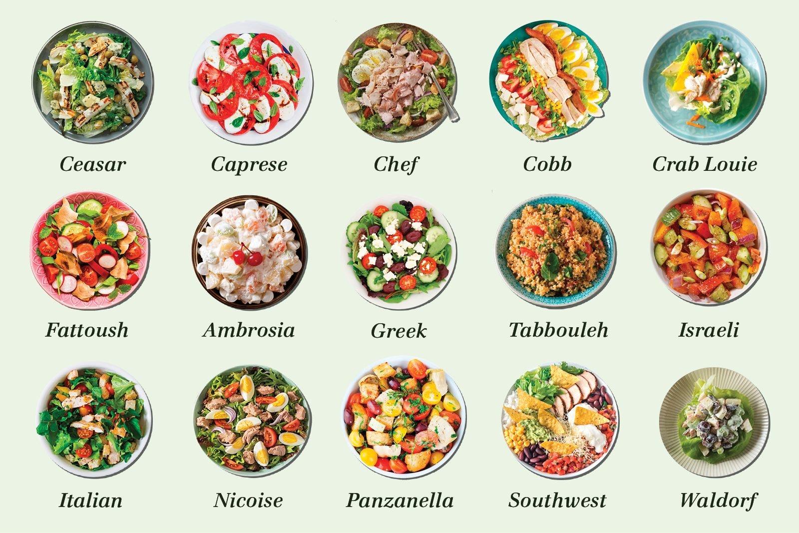 types of salad-graphic