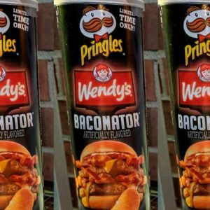 Baconator Pringles Are HERE, Thanks to a Collaboration Between Pringles and Wendy's