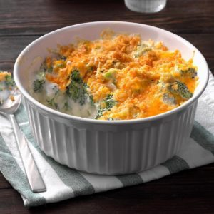Ninja Foodi Cheddar-Broccoli Casserole