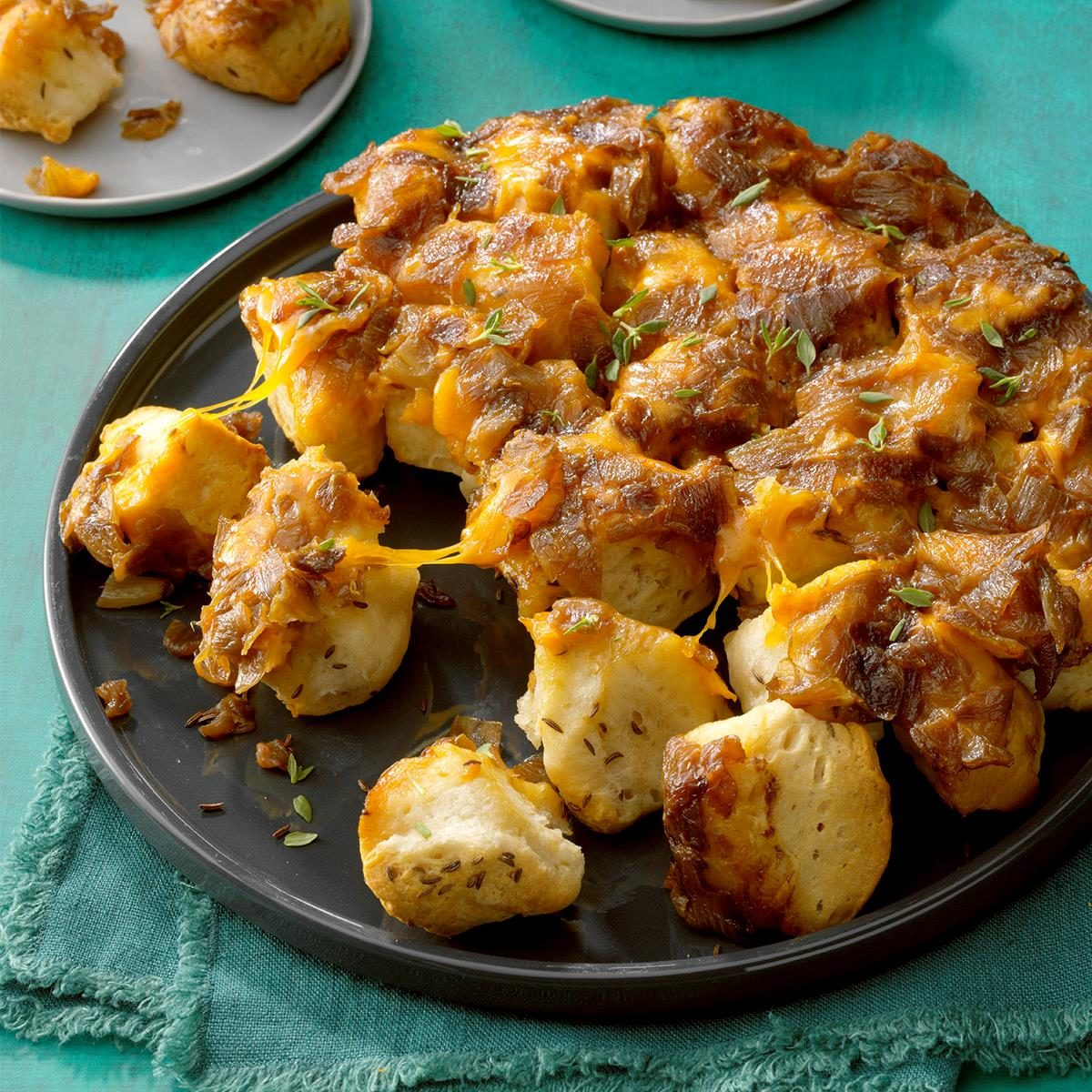 1st Place: Cheesy Caramelized Onion Skillet Bread