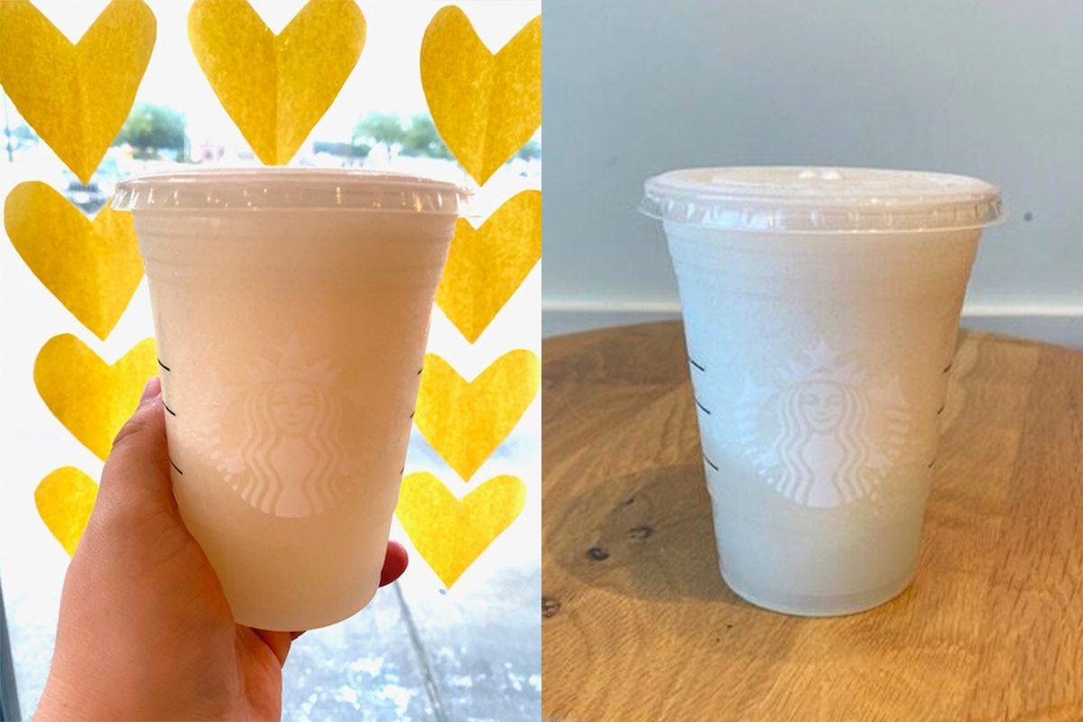 Starbucks frosted lemonade order