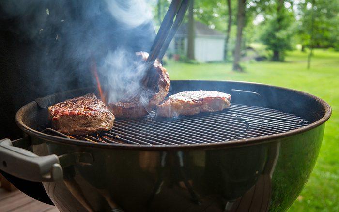 Steaks on Kettle