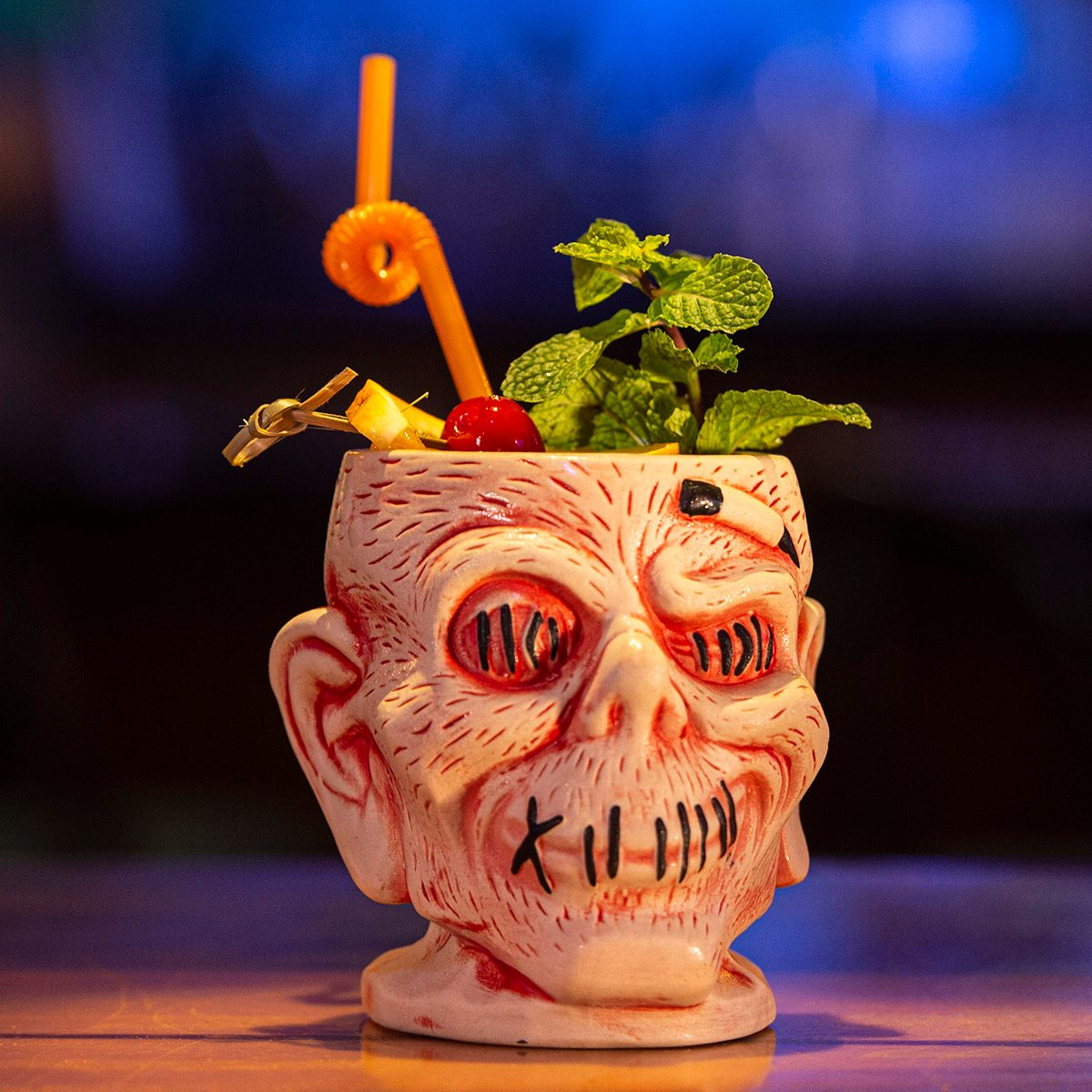 Zombie Head souvenir cup from Trader Sam's Grog Grotto