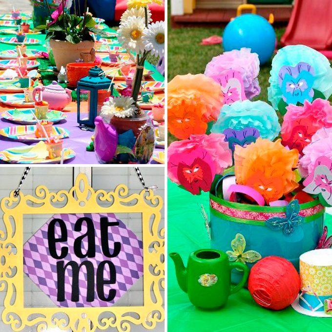 Alice in Wonderland first birthday party ideas