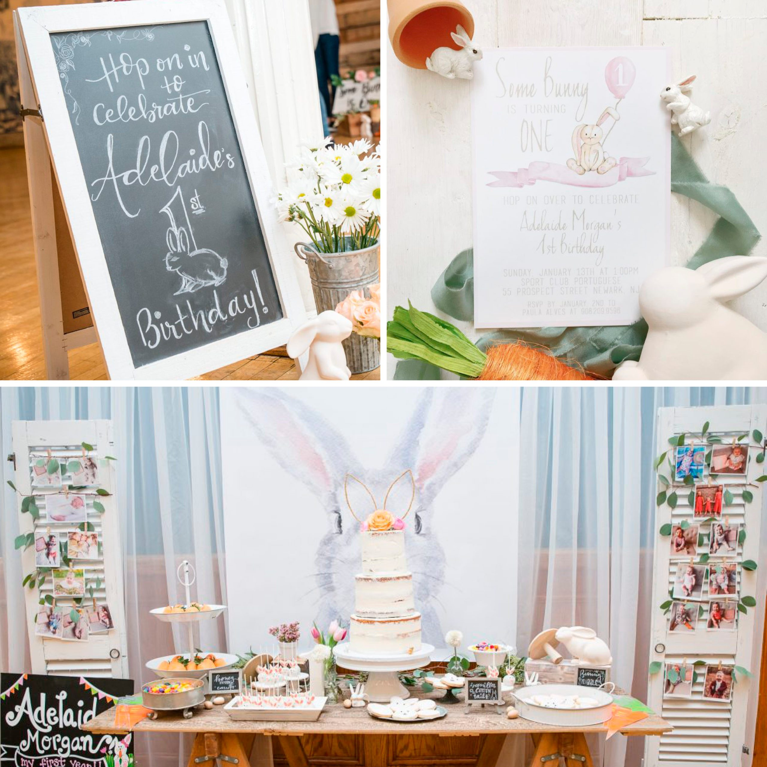 Some Bunny is One first birthday party ideas