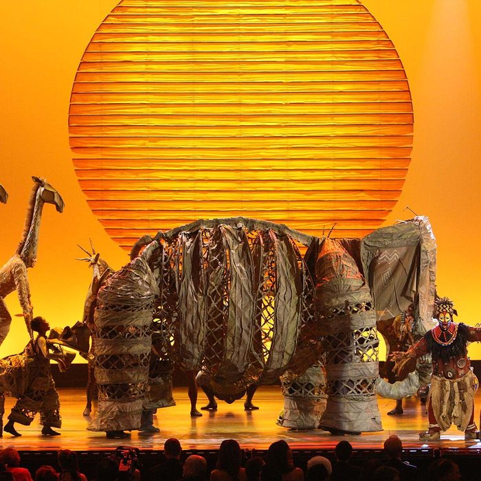 """NEW YORK - JUNE 15: Cast of """"The Lion King"""" perform on stage during the 62nd Annual Tony Awards at Radio City Music Hall on June 15, 2008 in New York City. (Photo by Theo Wargo/WireImage) *** Local Caption ***"""