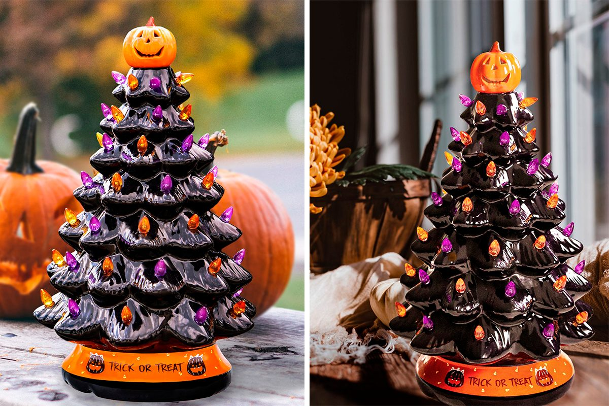 This Ceramic Halloween Tree Is Too Perfect For Spooky Season