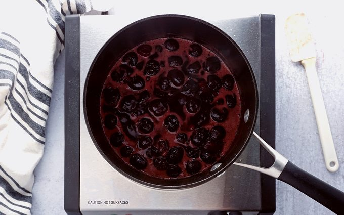 making a simple cherry sauce for cheese blintzes