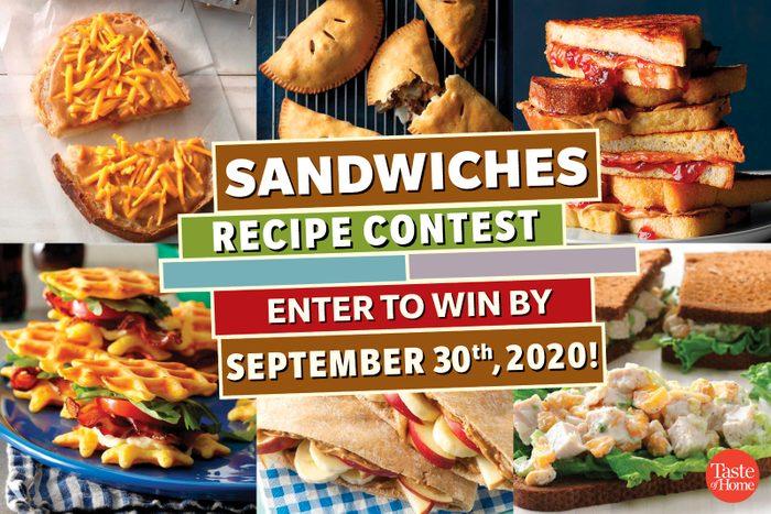 taste of home recipe contest sandwiches