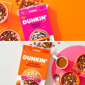 Dunkin' JUST Rolled Out 2 Coffee-Flavored Cereals Loaded with Caffeine