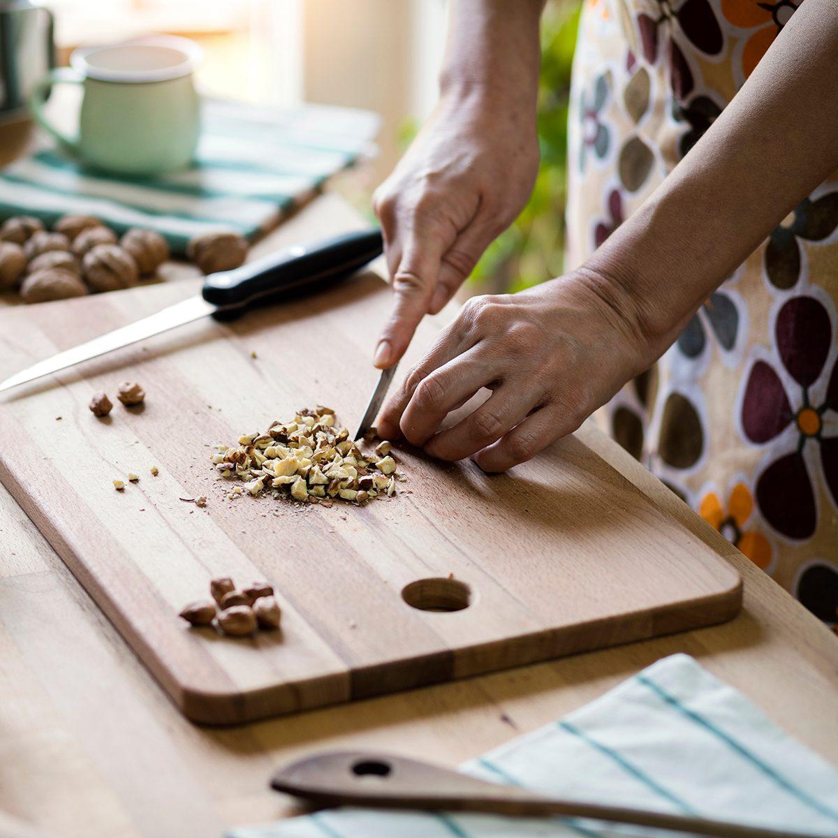 Preparing cookies in domestic kitchen